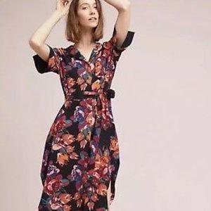 Maeve floral button down shirt dress